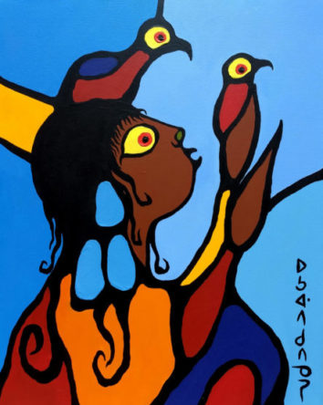 The Artist as a Young Man - Norval Morrisseau